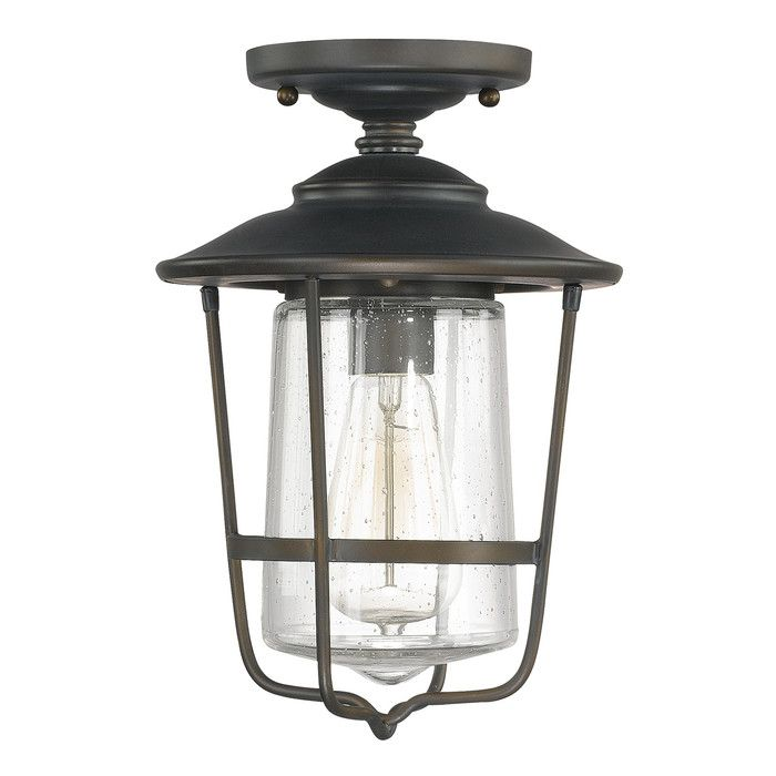 Rosie 1-Light Outdoor Semi-Flush Mount & Reviews | Joss & Main