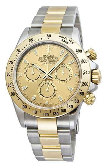 Rolex Daytona Champagne Index Dial Oyster Bracelet Mens Watch 116523CSO