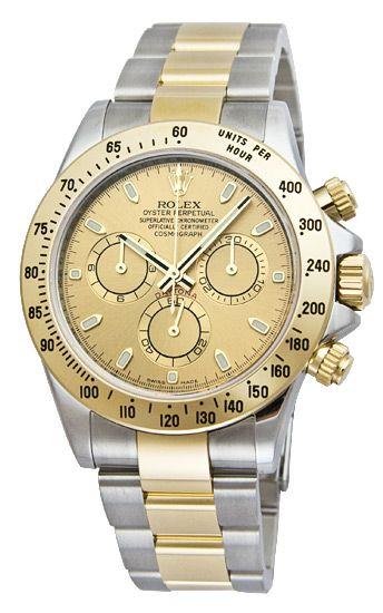 Rolex Daytona Champagne Index Dial Oyster Bracelet Mens Watch 116523CSO