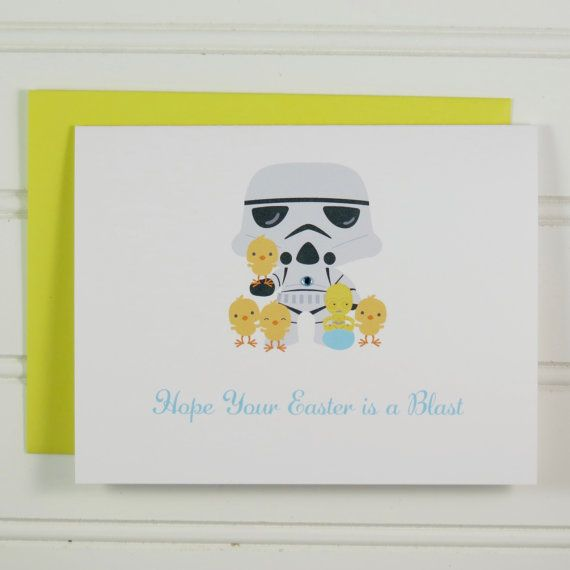 Storm Trooper Easter Card, Star Wars Card, Easter Card For Star Wars Fan,