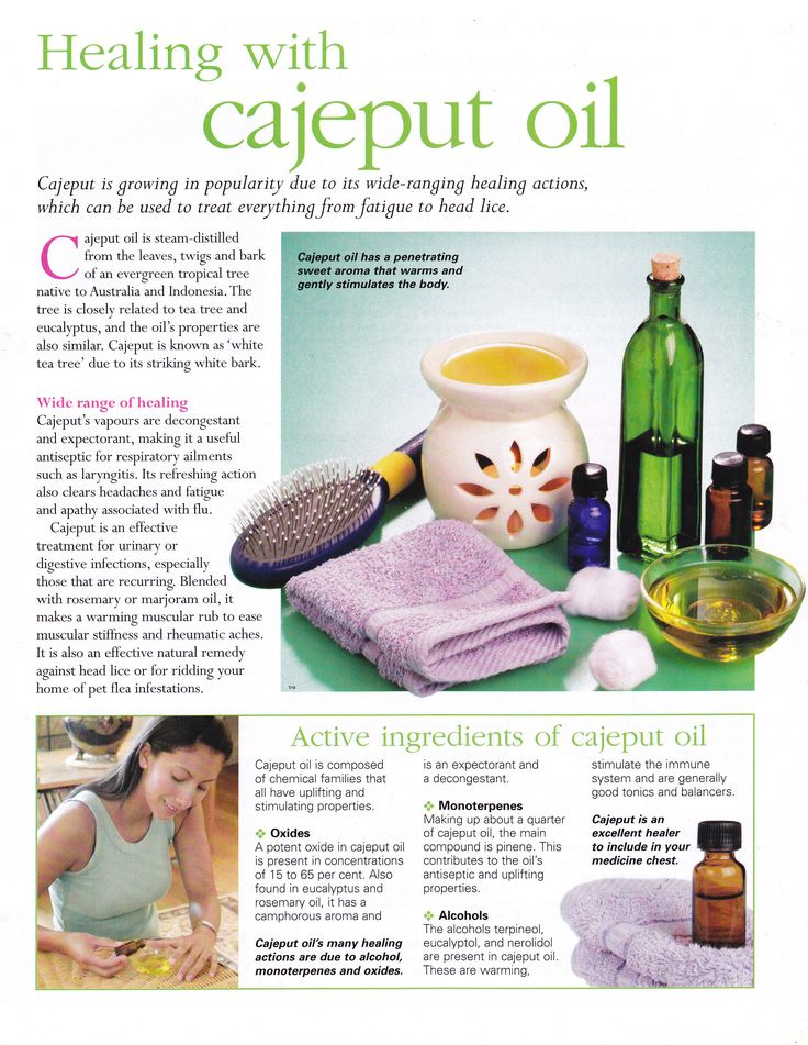 Healing with Cajeput oil