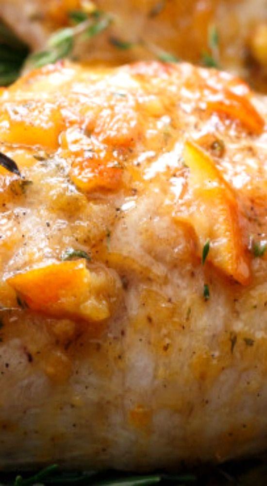 Orange Marmalade Skillet Roasted Chicken Breasts.