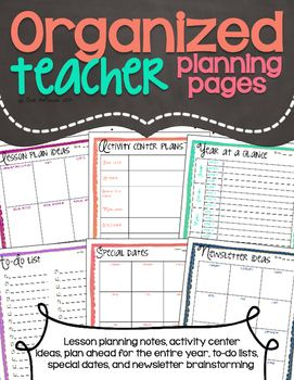 These free pages are sure to help keep your thoughts and ideas organized as you plan for your day to day preschool routines. Use the lesson plan ideas page to keep track of ideas (whether you find them on Pinterest, get inspiration from your students, or want to remember a specific standard that needs work)and when you sit down to write out your lesson plans youll have new ideas handy.