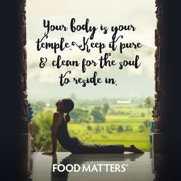 How do you take care of your temple?   www.foodmatters.com #foodmatters #FMquotes