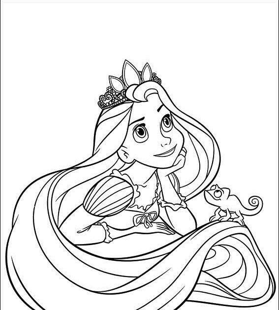 Dibujo Rapunzel Colorear Rapunzel Dibujo Dibujos Para Colorear