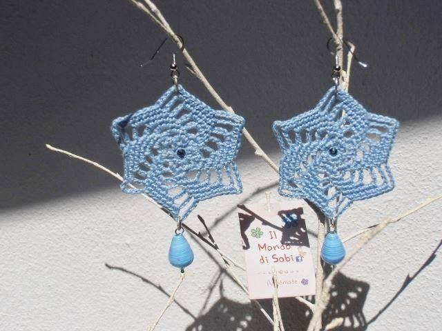 Orecchini girandola azzurri