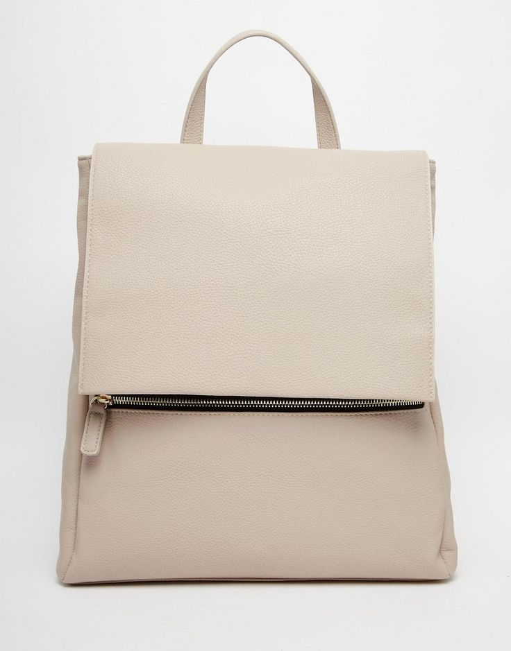 Image 1 of ASOS Zip Front Square Backpack