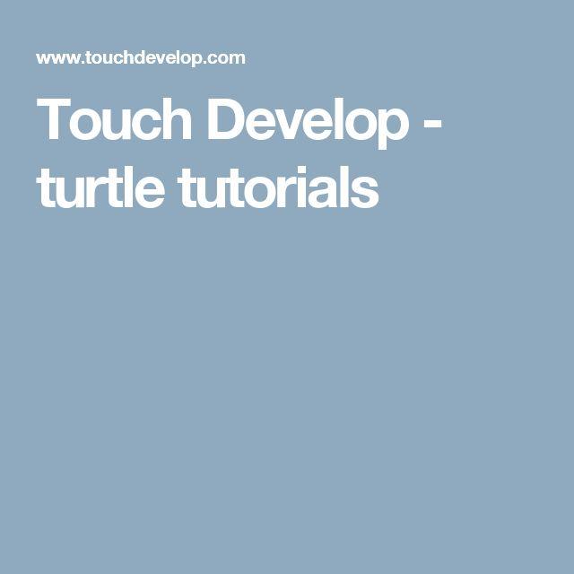 Touch Develop - turtle tutorials