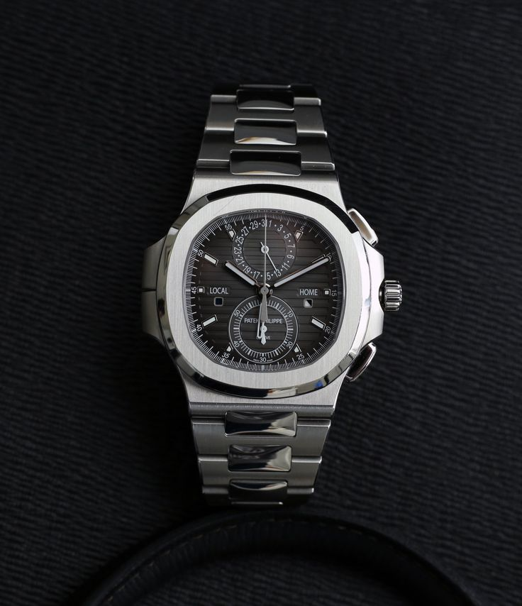 Patek Philippe Nautilius Travel-Time Chronograph 5990 steel watch at A Collected Man London