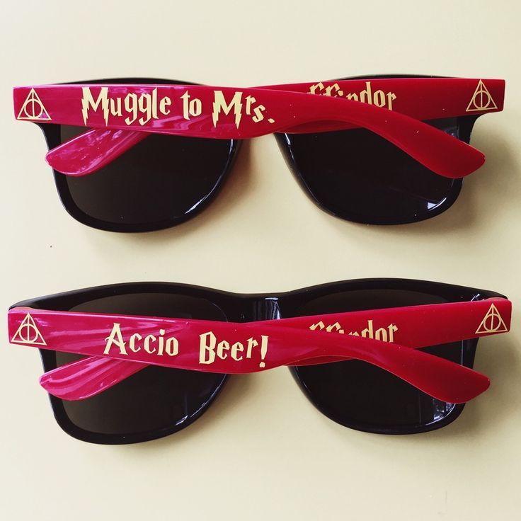 10 points to Gryffindor for such a fun bachelorette party favor! ⚡️❤️ Custom Harry Potter Bachelorette Glasses