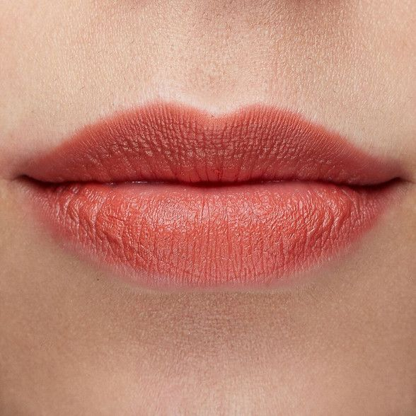 Candyfloss sheer matte warm terracotta Blotted Lip swatch fair skin