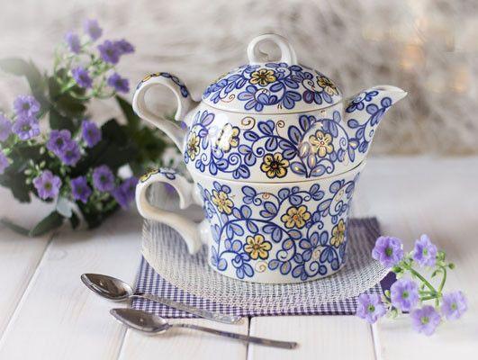 $27 the flower collection ceramic tea set