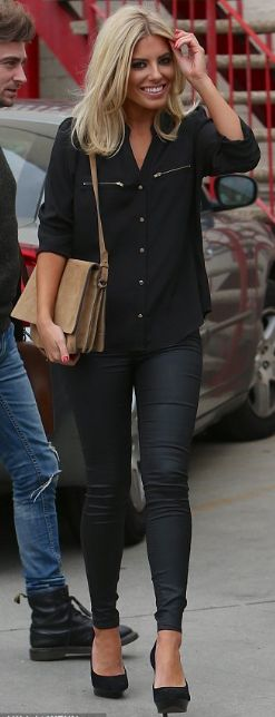 Mollie King- I love her style. I love the all black look with blonde hair