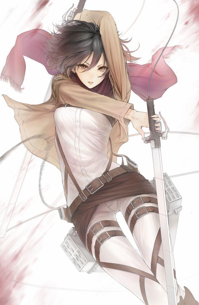 Mikasa Ackerman (Mikasa Akkaman) -  Attack On Titan (Shingeki no Kyojin) #AoT #SnK