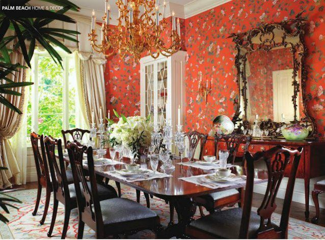 A Palm Beach Home In Bloom Beach Dining Room Florida Design Traditional Dining Rooms