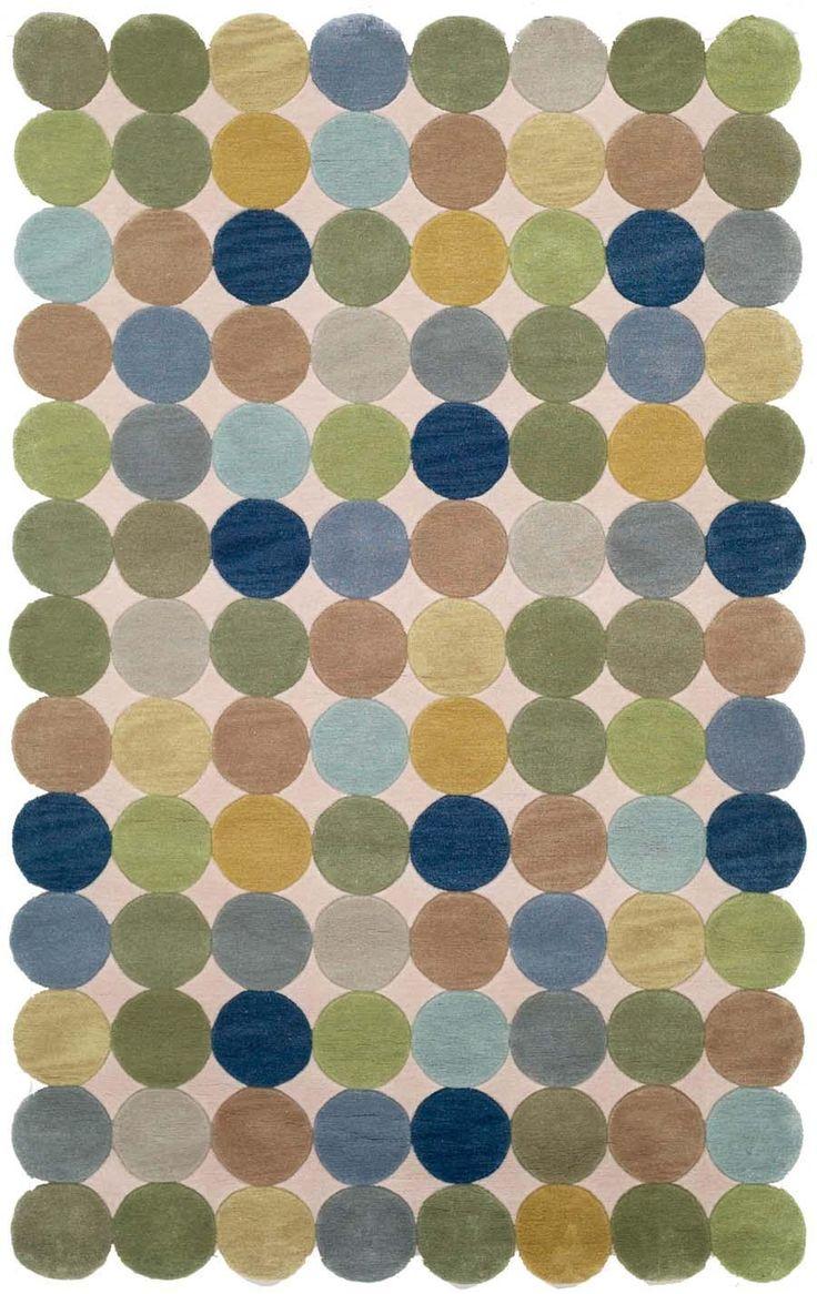 Multi Color Circle Area Rugs   Trans Ocean Amalfi Circles Ocean 1958/04