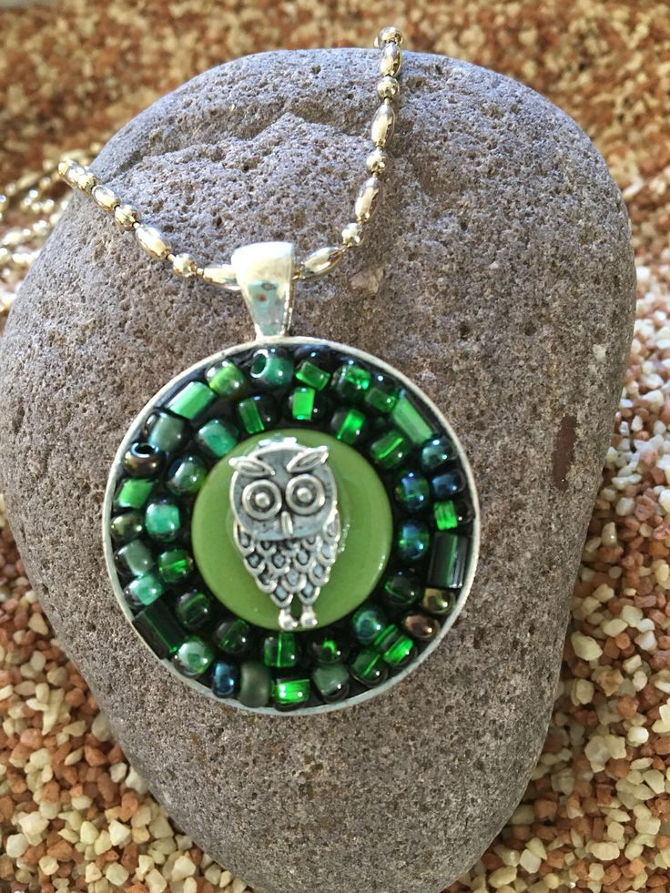 A personal favorite from my Etsy shop https://www.etsy.com/listing/473525628/statement-necklace-mosaic-pendant-owl