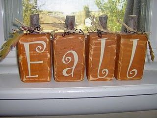 Not that I need more word blocks - but this is cute and would be fairly easy.