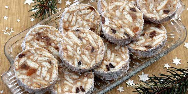 piškotový vánoční salám recept