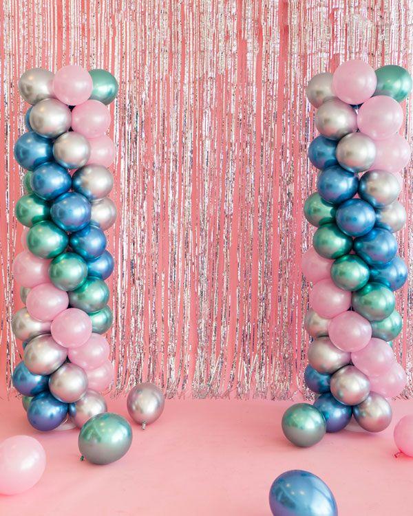 80's Prom Balloon Pillars   Oh Happy Day!