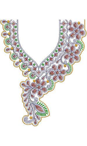 Arab Fashion Dresses Cording Neck Design