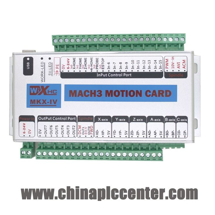 Mach3 USB 4 Axis CNC Motion Control Card Breakout Board 2000KHz Support Windows 7 Upgrade