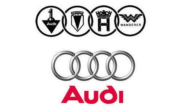 There are four car companies that make up the Audi company, and that's where the four ring logo comes from. The three other companies of the four, also known as the Auto Union, are DKW, Horsch, and Wanderer.  Now you know!