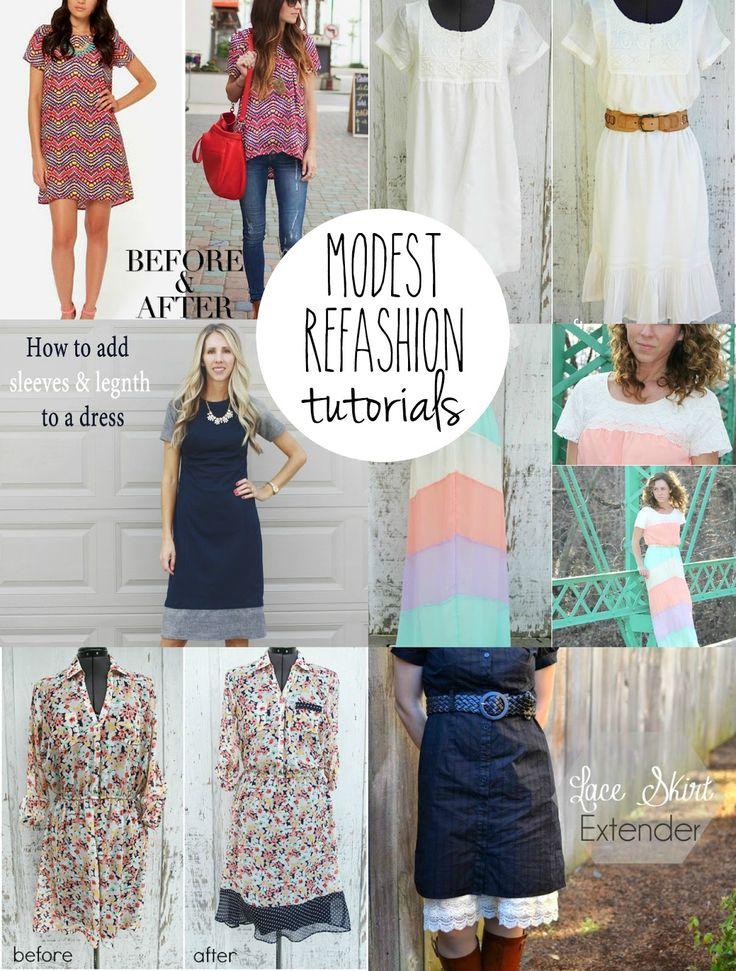 Many Modest Refashion Tutorials