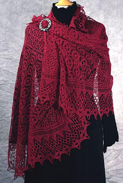 Ravelry: Misty Vales Stole by Dorothy Siemens