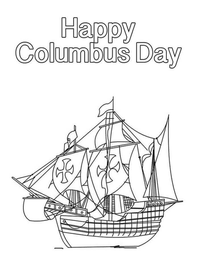 Columbus Day Coloring Page Toddler Coloring Book Coloring Pages For Kids Coloring Pages Inspirational