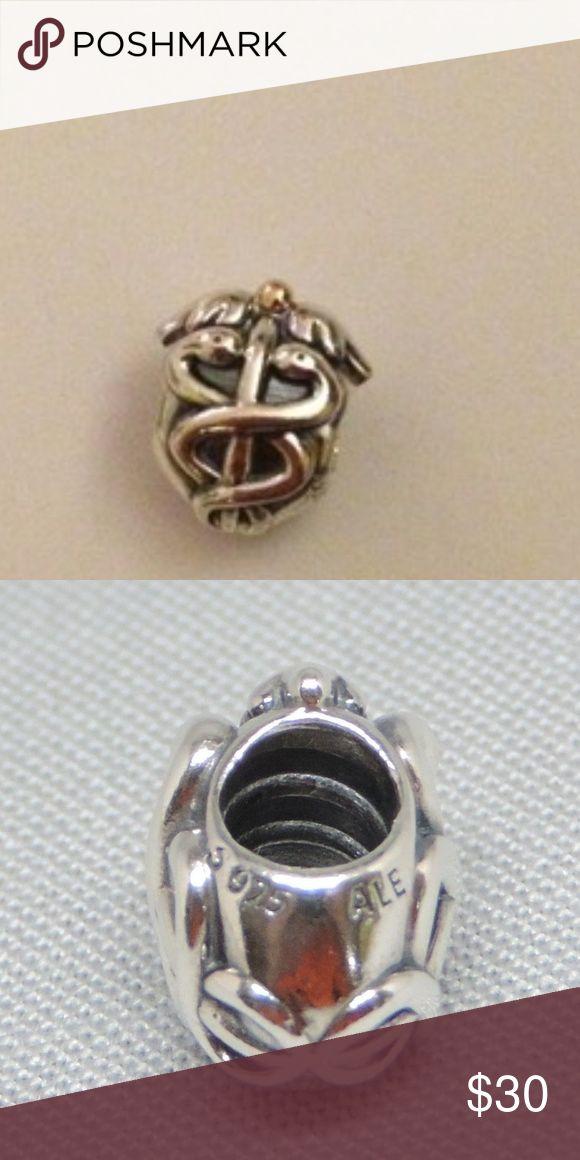 938c2527f Pandora Life Saver 14K 925 ALE 791042 nurse Pandora Life Saver Medical Charm /Bead 14K Gold Silver 925 ALE 791042 like new s925 ALE p…