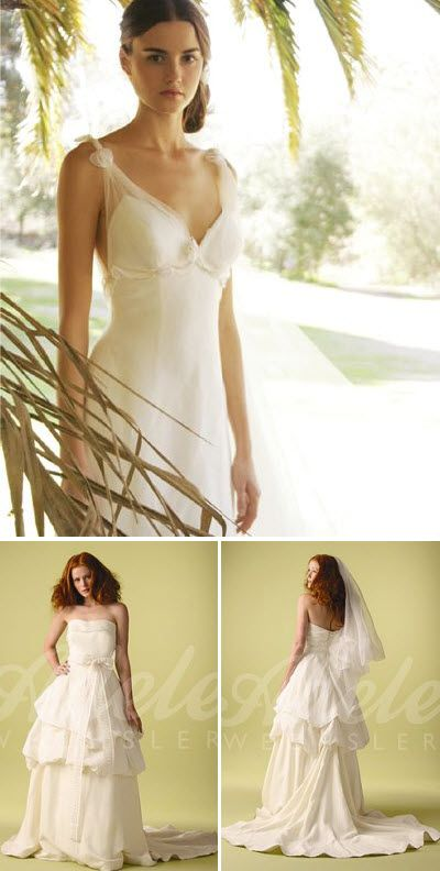 Adele Wechsler Eco-Couture bridal gowns are made of certified organic vegetable-dyed silks and use fair trade labor.  This is not something you would ever find at a grocery store, but thought it was too beautiful not to include!