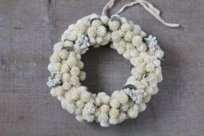 千日紅のリースとユーカリのリース dryflower ドライフラワーwreath|FLEURI blog