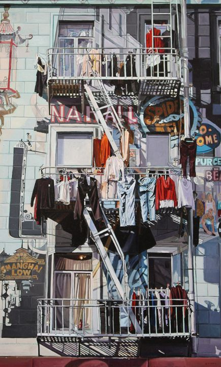 Chinatown Fire Escapes by artist Greg Gandy