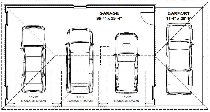 Best 25 garage dimensions ideas on pinterest 5 car for Standard single garage size