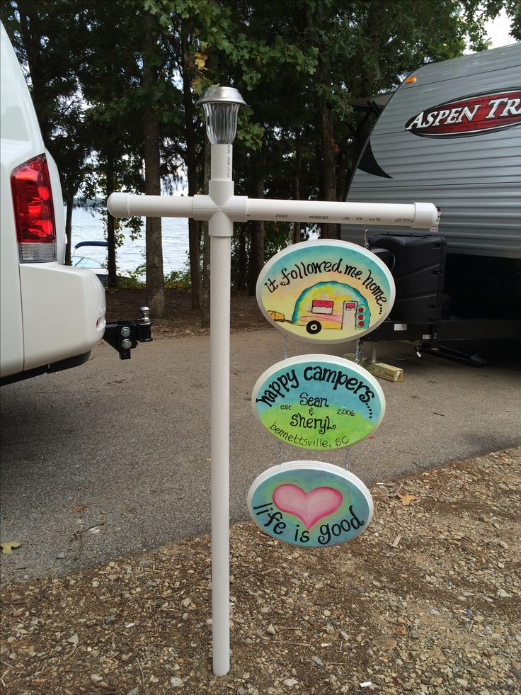 Cute signs. Not so much the PVC pipe unless you can do something with it . It's self.  To cover