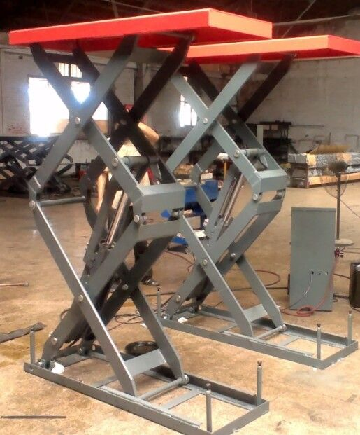 3200kgs in ground hydraulic car lift scissor car hoist