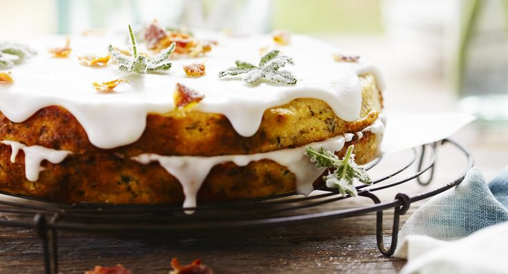 River Cottage Australia Paul West's zucchini cake with candied garden leaves