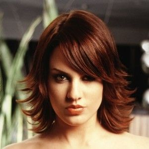 flipped out layered bob … | Medium hair styles, Medium ...