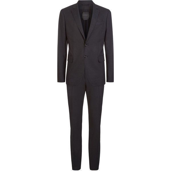 La Perla Mayfair Grey Virgin Wool Two-Piece Suit ($2,490) ❤ liked on Polyvore featuring men's fashion, men's clothing, men's suits, mens tailored suits, mens two piece suits, mens grey suits, men's 2 piece suits and mens gray suit