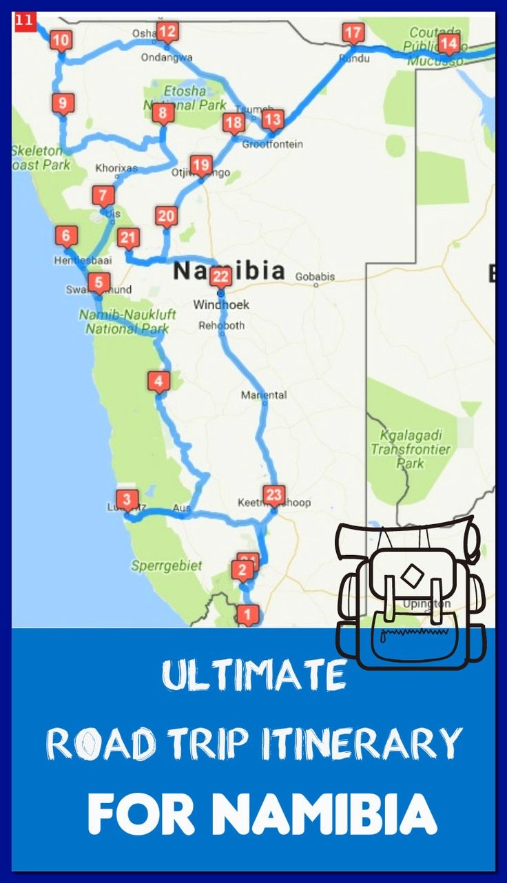 30-day itinerary for a road trip through Namibia