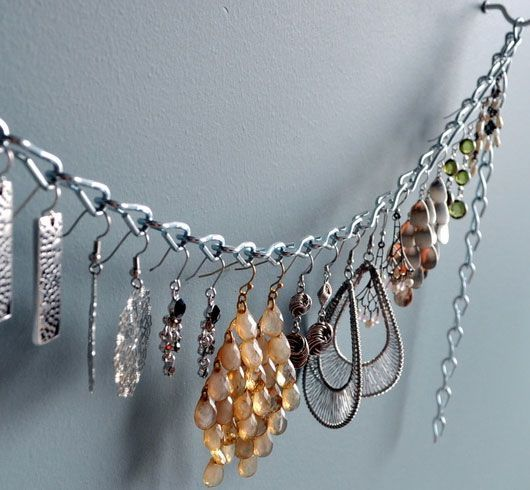 Click Pic for 33 Creative DIY Jewelry Organizers | DIY Jewelry Storage Ideas - Dangling Earring Organizer  | DIY Storage Ideas for Small Spa...