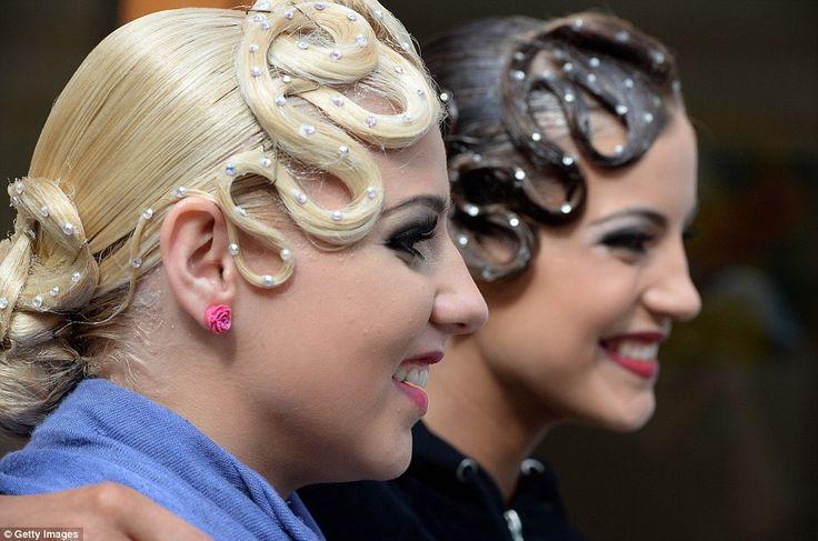 banana peel hairstyle : Ballroom Ballroom Dance Pinterest