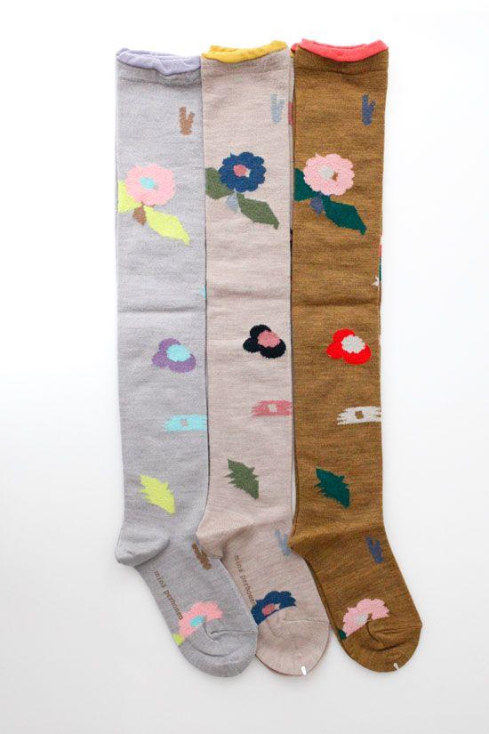 画像2: flower basket ニーハイソックス