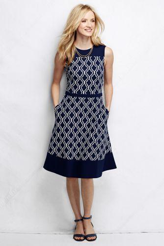 Women's Petite Ponté A-line Dress - Pattern