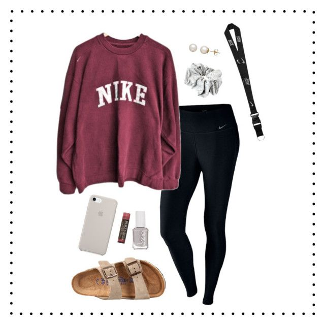 """""""Untitled #27"""" by lily141 on Polyvore featuring NIKE, ASOS, Birkenstock, Essie, Honora and Burt's Bees"""