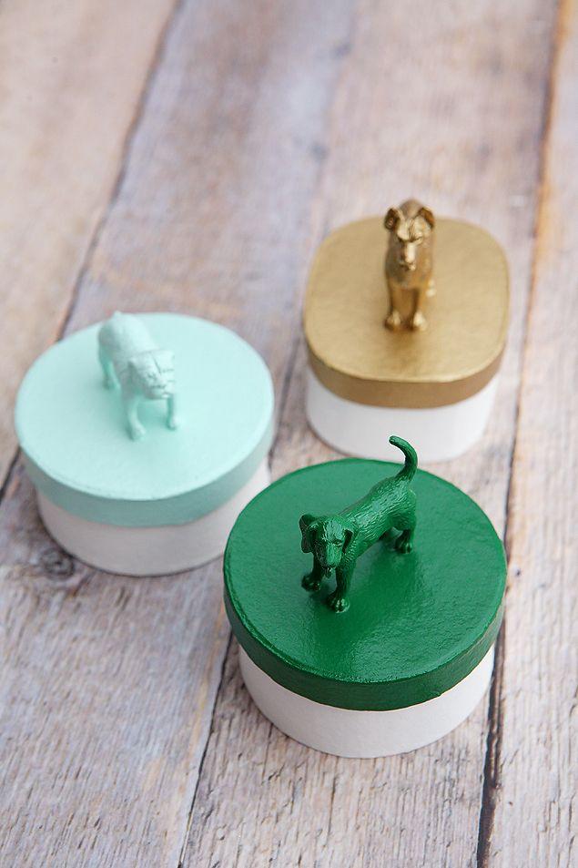 DIY Puppy Dog Trinket Boxes   Dog Crafts