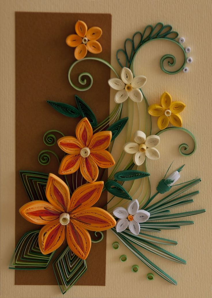 Neli Quilling Art: Quilling card - flowers