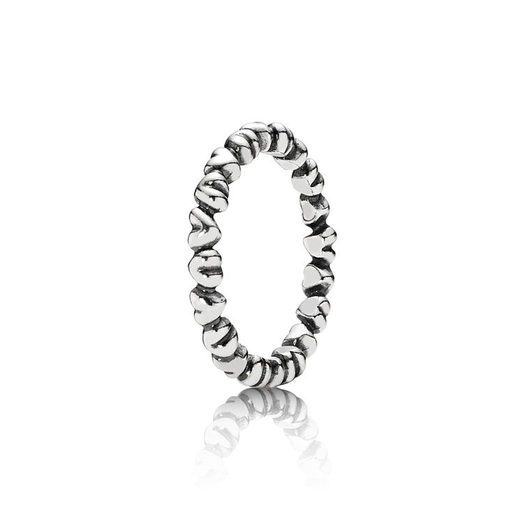 PANDORA | Chain of Hearts Silver Ring - PANDORA