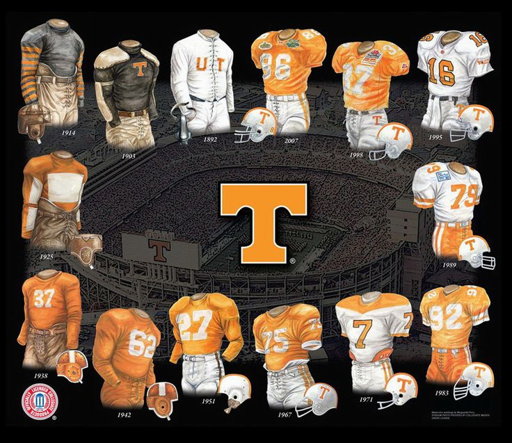 University of Tennessee Volunteers Football Uniform and Team History | Heritage Uniforms and Jerseys